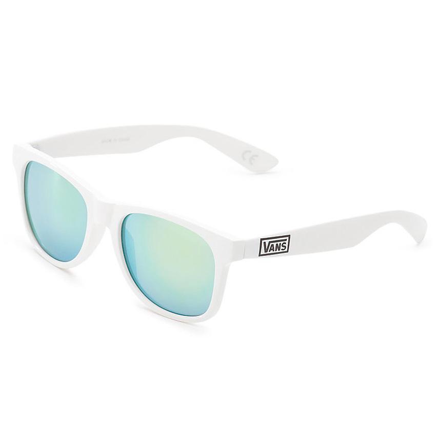 Vans Spicoli 4 Sunglasses - White / Mirror Green