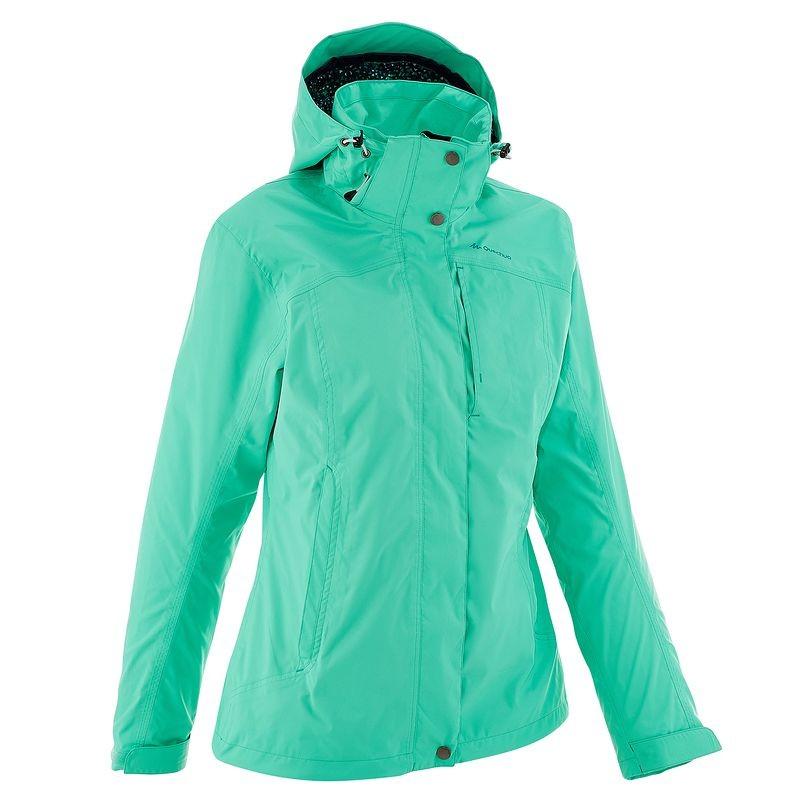 QUECHUA Women's Waterproof Jacket (Green)