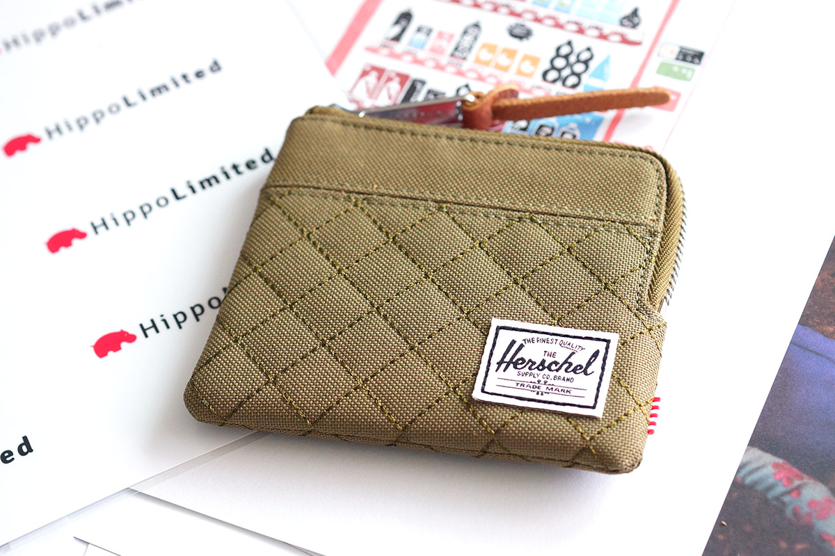 Herschel Johnny Wallet - Quilted Army