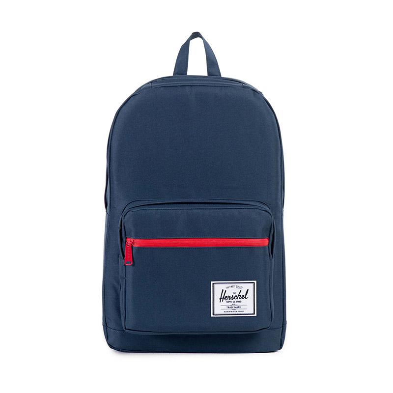 Herschel Pop Quiz Backpack - Navy / Red Zip / Red Rubber