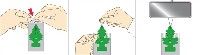 วิธีใช้แผ่นน้ำหอม Little Trees