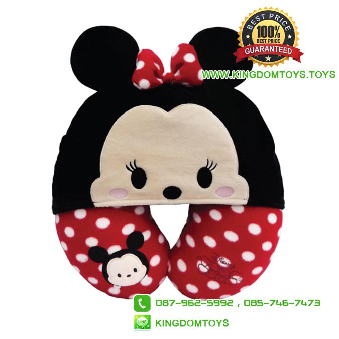 หมอนรองคอมินนี่ Minnie มีฮูท [Disney Tsum]