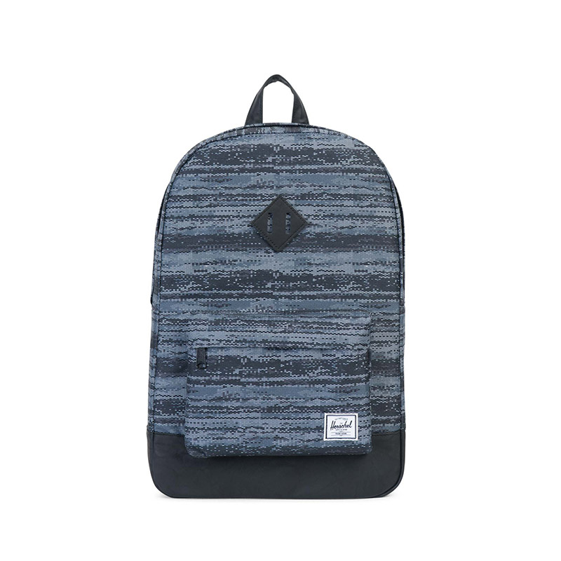 Herschel Heritage Backpack - White Noise / Black Synthetic Leather