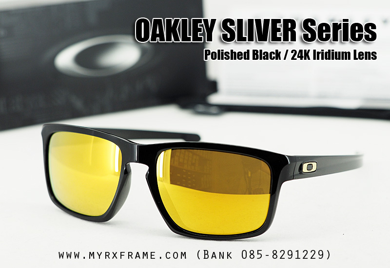 Oakley Sliver (AsianFit) Polished Black / 24K Iridium Lens