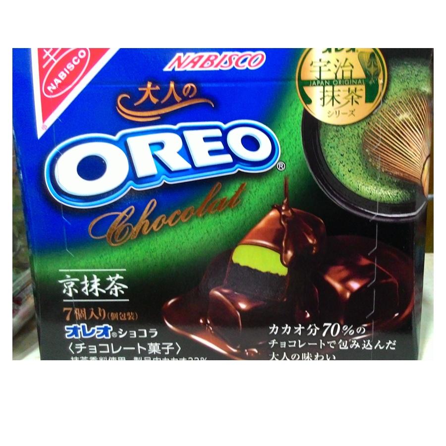โอรีโอ้ ช็อคโกแลตสอดไส้ชาเขียว (Nabisco Oreo Kyoto Uji Matcha Green Tea Bitter Chocolate)