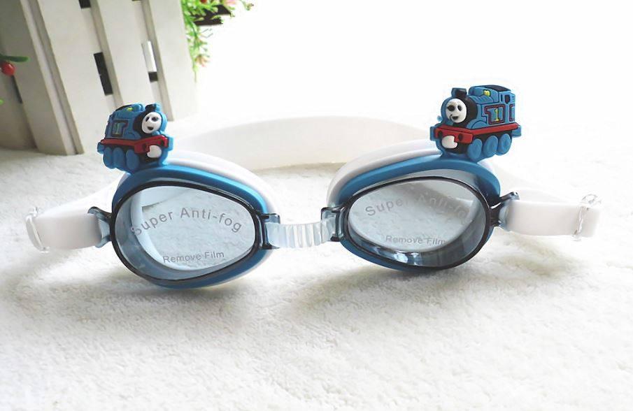 แว่นว่ายน้ำเด็ก ลายการ์ตูน รถไฟ โทมัส สายปรับได้