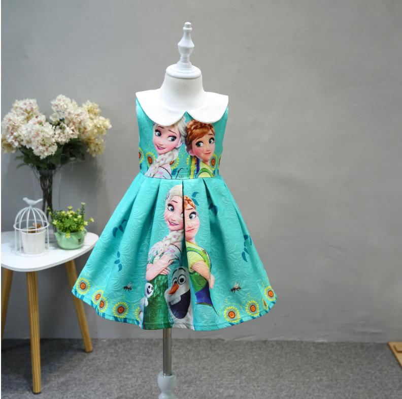 ชุดกระโปรงเด็กหญิงลาย Elsa&Anna สีเขียว งานสวยใส่แล้วน่ารักมากค่ะ