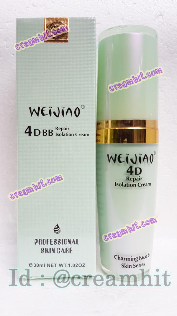 เหว่ยเจียวครีม ครีมฟื้นฟูผิว 4D BB สีเขียว ของแท้ ราคาส่งถูก WEIJIAO 4 D BB ครีมฟื้นฟูผิว ( 30 ml )