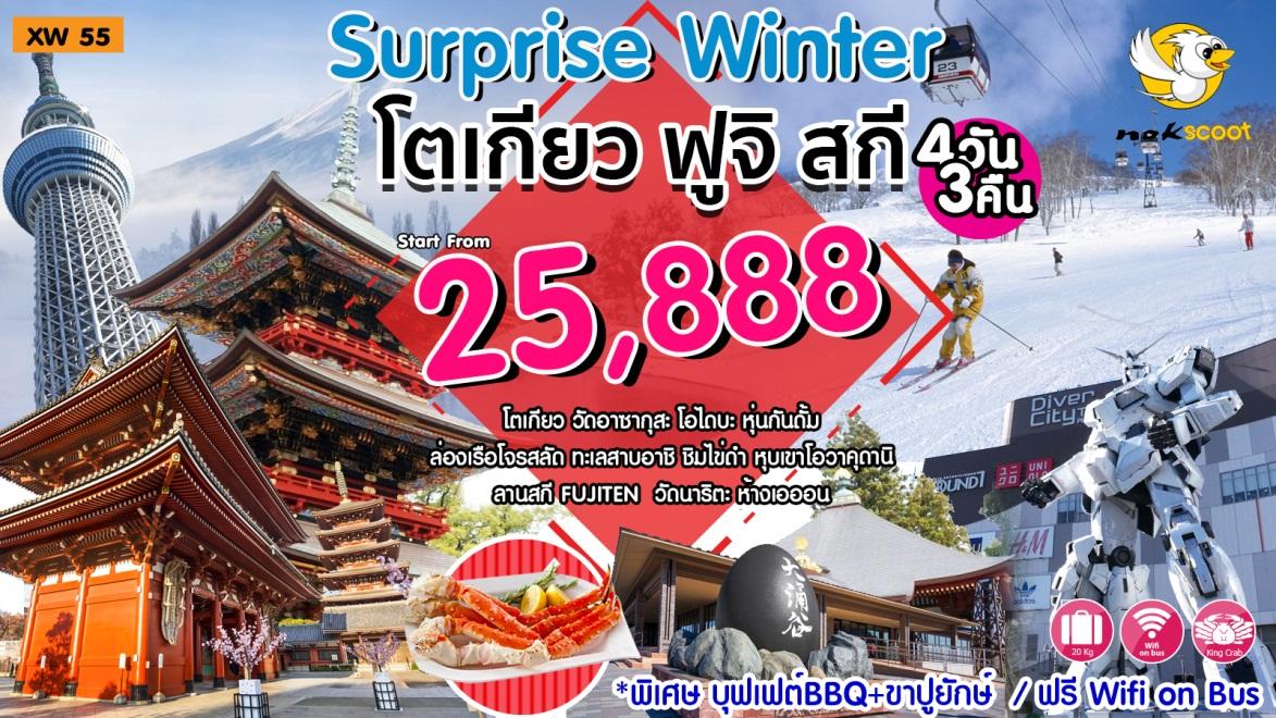 Surprise Winter โตเกียว ฟูจิ สกี 4วัน 3คืน ธ.ค.60