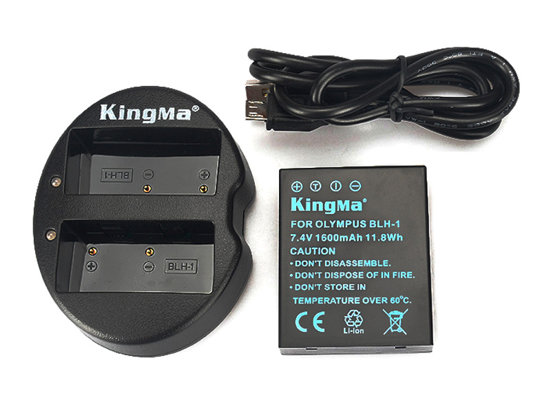 Kingma Olympus Battery BLH-1 + Kingma USB Dual Battery Charger แท่นชาร์จแบ็ตเตอรี่