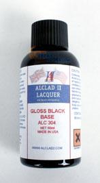 ALC-304 GLOSS BLACK BASE (ENAMEL) (2oz.)
