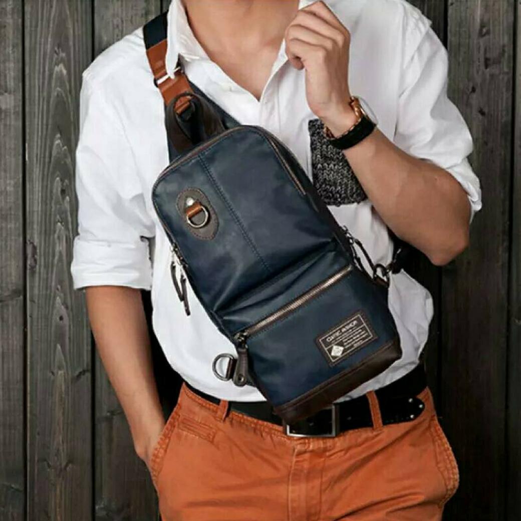 กระเป๋าสะพายเฉียง กระเป๋าคาดอก กระเป๋าสะพายพาดลำตัว กระเป๋าถือ สำหรับท่านชายเท่ห์ๆ
