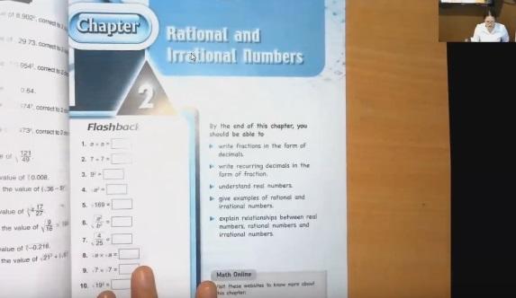 เรียนคณิตศาสตร์EPออนไลน์ ม.2 (ครูอุ๋งอิ๋ง) บทที่ 2 เรื่อง Rational and Irrational Numbers ตอนที่1/2