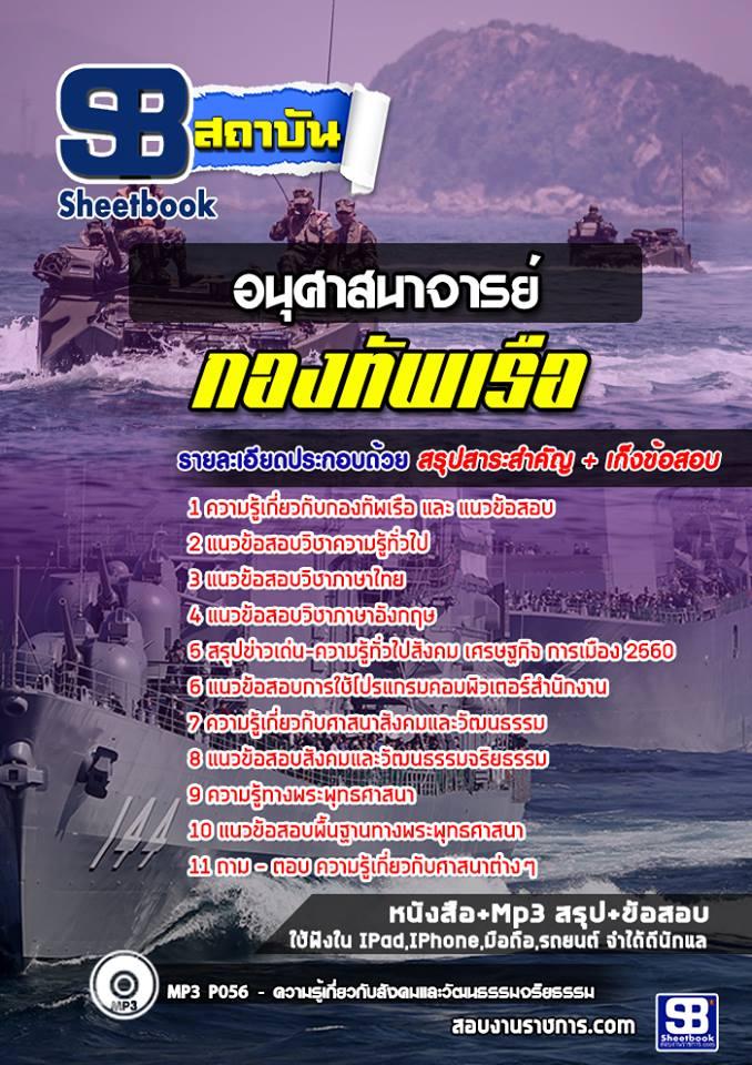 แนวข้อสอบอนุศาสนาจารย์ (สัญญาบัตร) กองทัพเรือ