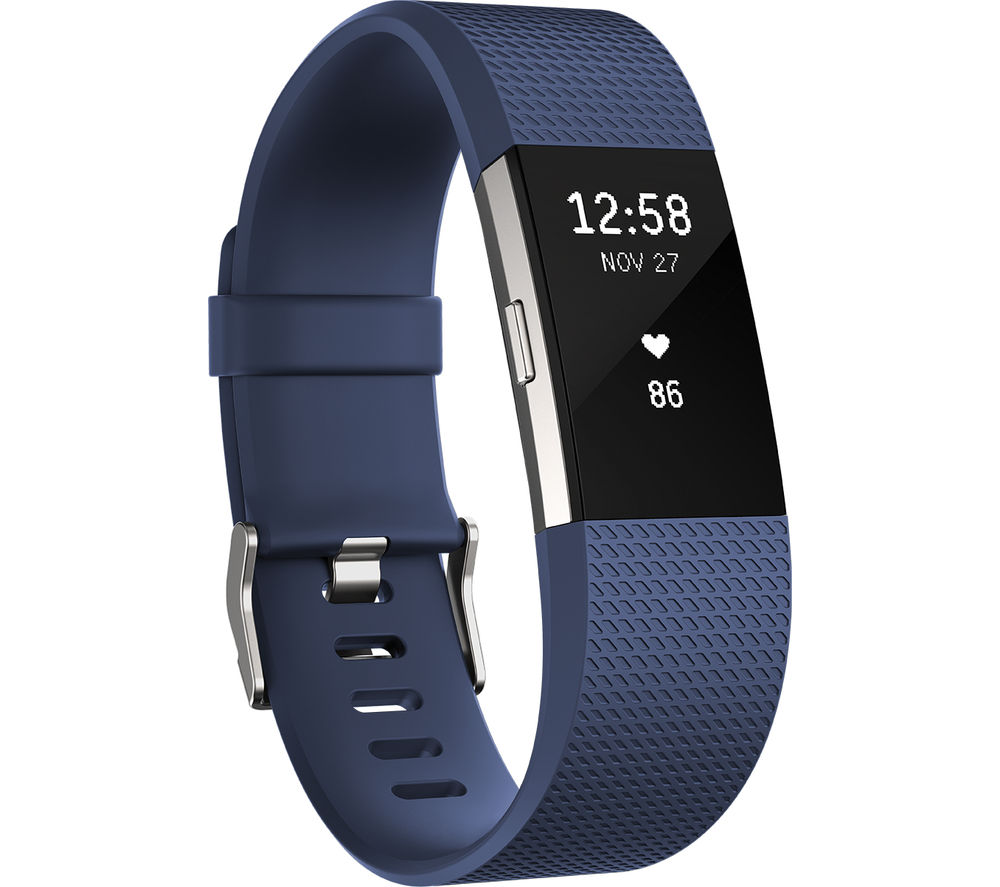 Fitbit Charge 2 Blue Small รับประกันศูนย์ 1 ปี