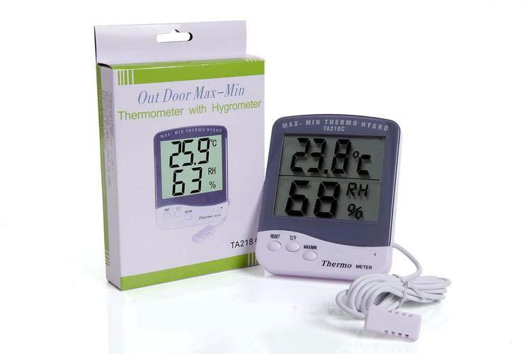 เทอร์โมมิเตอร์ วัดความชื้นสัมพัทธ์ รุ่นใหญ่ แบบมีสาย(1.5เมตร) THER145
