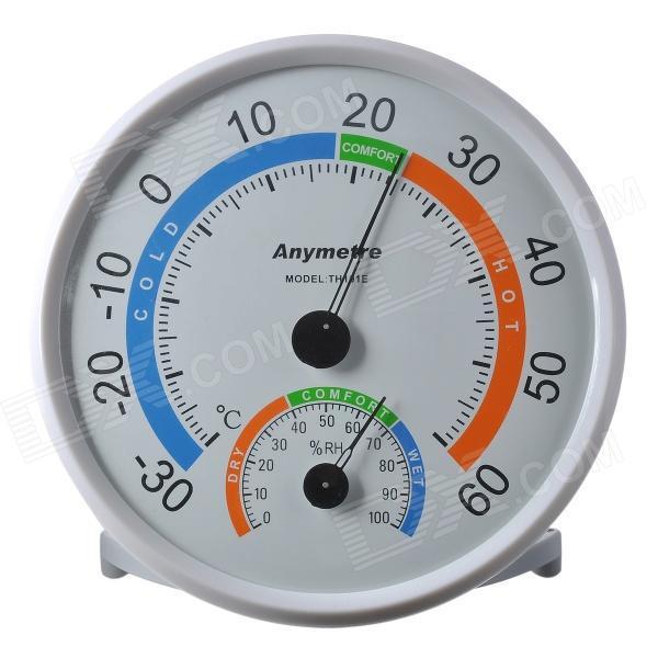 เทอร์โมมิเตอร์ วัดความชื้นสัมพัทธ์ วัดอุณหภูมิ แบบเข็ม แป้นใหญ่ THER124