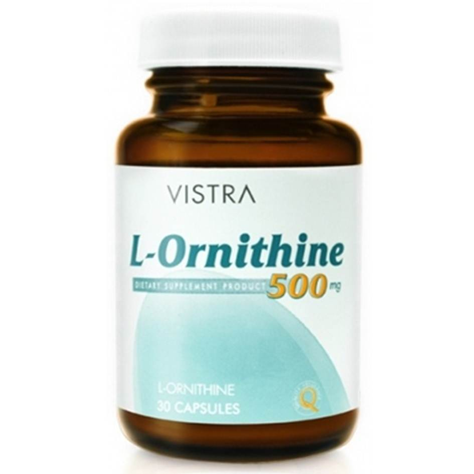 VISTRA L-Ornithine 500mg 30 เม็ด