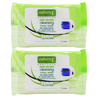 Smooth E Babyface Cleansing Facial Wipes