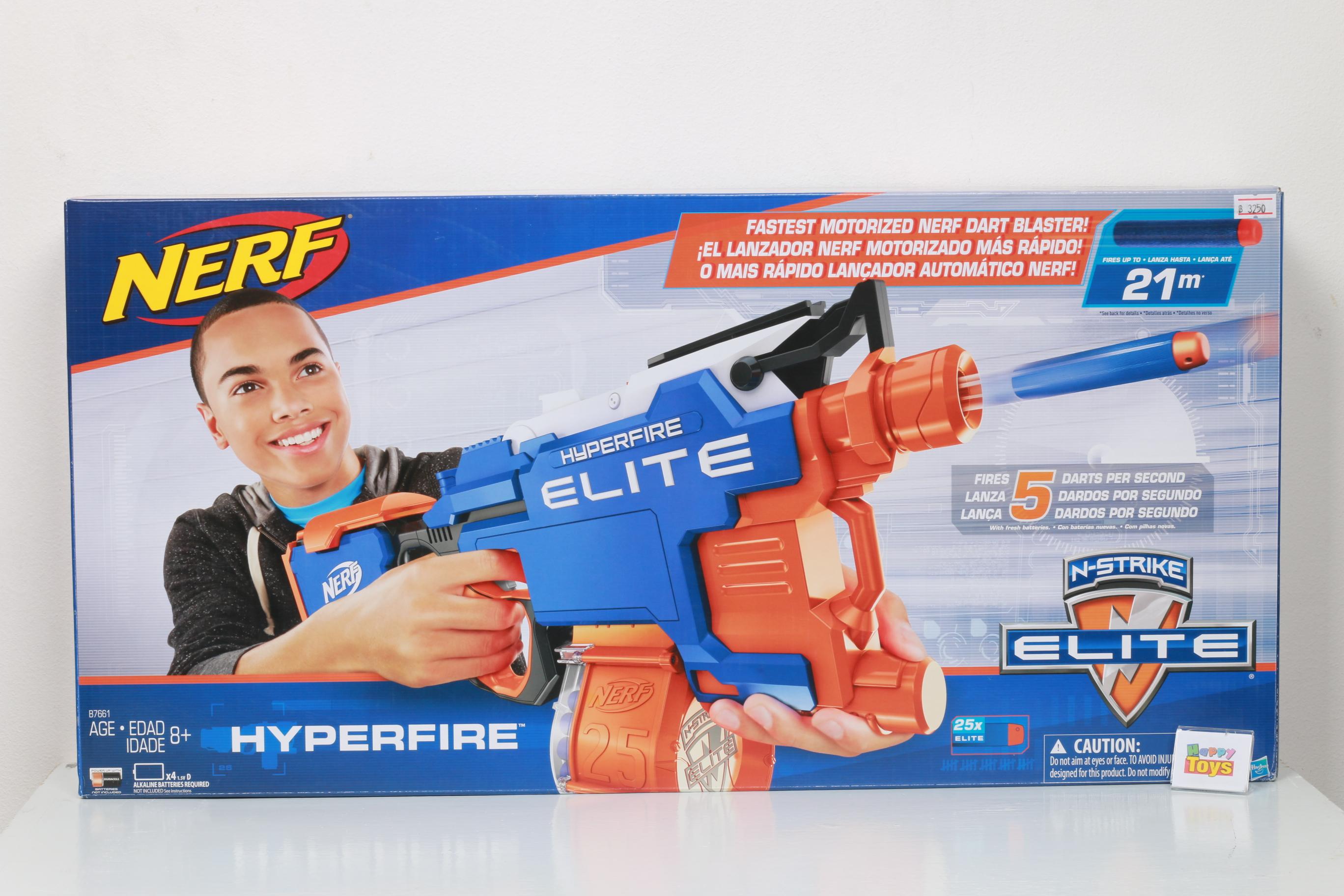 ปืนเนิร์ฟ Nerf Elite N-Strike Hyperfire ปืนNerfยิงอัตโนมัติ บรรจุกระสุนได้ 25 นัด