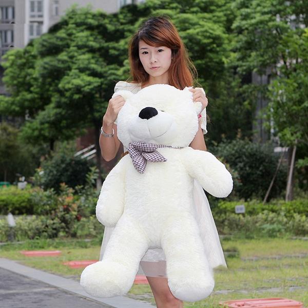 ตุ๊กตาหมียิ้ม ตุ๊กตาตัวใหญ่ สีขาว ขนาด 1.2 เมตร