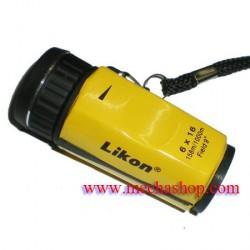 DMT012: กล้องส่องสนามกอล์ฟ กล้องขยาย6x16mm Mini Pocket Monocular Golf Scope w/ Rangefinder