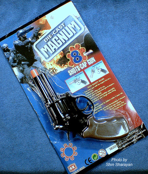 ปืนแก็ปเสียง แบบรีวอลเวอร์ ใช้แก็ปวง 8 นัด