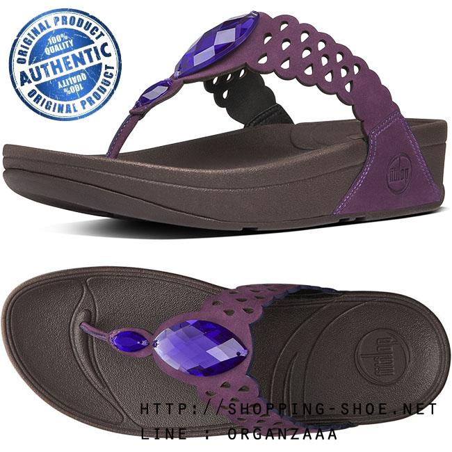 Fitflop Bijoo Nubuck Pomp Purple ของแท้ นำเข้าจาก USA และ UK