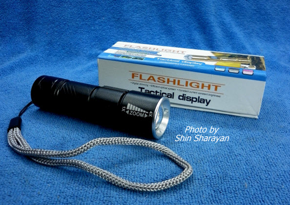 ไฟฉายแรงสูงหลอด High-Strength T6061 ชาร์จ USB