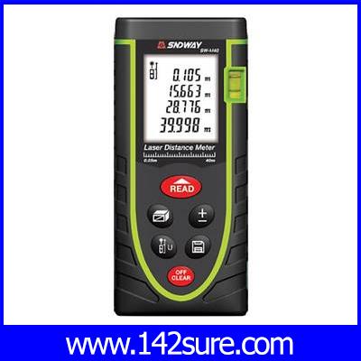 DMT029 : ครื่องมือวัดระยะ เลเซอร์วัดระยะดิจิตอล มิเตอร์วัดระยะเลเซอร์ เครื่องวัดระยะเลเซอร์ 40 เมตร High quality 40m laser distance meter SW-M40