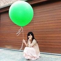 ลูกโป่งจัมโบ้ สีเขียว ขนาด 36 นิ้ว - Round Jumbo Balloon Green