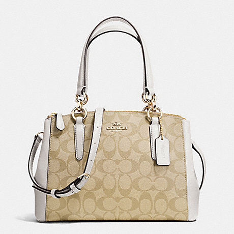 กระเป๋า COACH MINI CHRISTIE CARRYALL IN SIGNATURE F36718