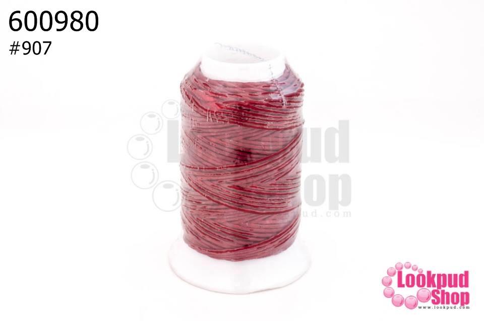 เชือกเทียน ตราน้ำเต้า สีแดงเข้ม #907 (1ม้วน)
