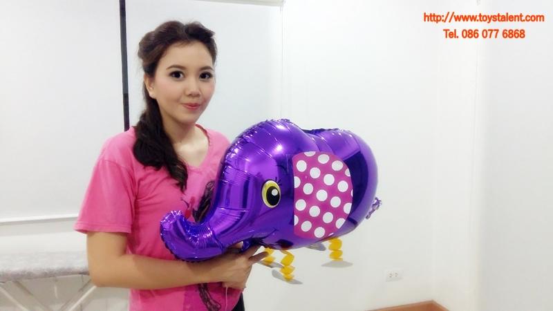 Purple Elephant Walking Balloons - ช้างน้อยบอลลูน สีม่วง / Item No. TL-K007