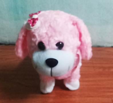 ตุ๊กตาหมาเดินได้ ส่ายก้นได้ มีเสียงเพลง สีชมพู (มาใหม่ล่าสุด) (ซื้อ 3 ชิ้นราคาส่ง 300)