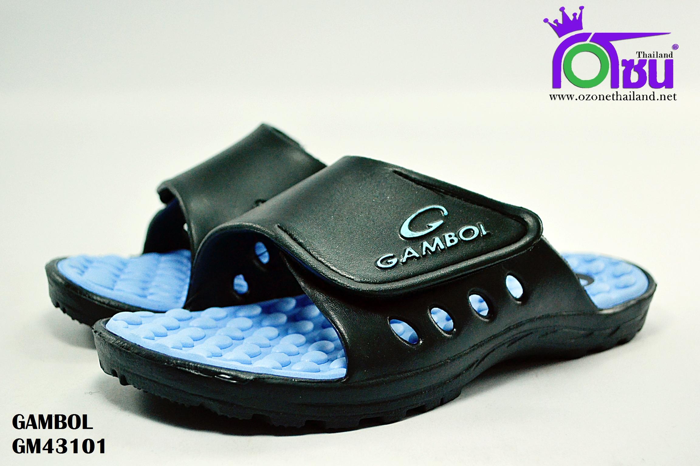 รองเท้าแตะ GAMBOL แกมโบล รุ่น GM 43101 สีฟ้า เบอร์ 4-9