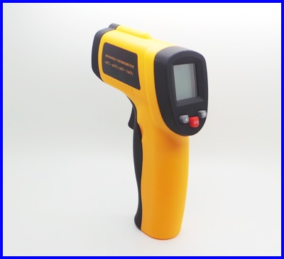 เครื่องวัดอุณหภูมิ เทอร์โมมิเตอร์อินฟาเรด มิเตอร์วัดอุณหภูมิอินฟาเรด Digital Infrared Thermometer-50 ~ 420 °C