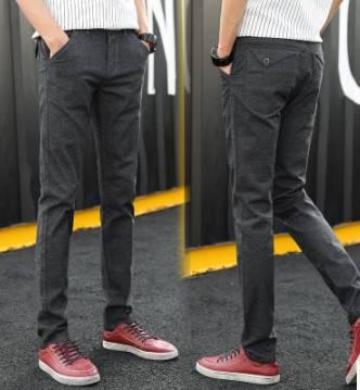 3สี!!กางเกงสแล็ค ลินิน แฟชั่นทรงสลิมฟิต ลำลอง กปสามเหลี่ยม เอว No.28-38 สีเทา น้ำเงิน เทาเข้ม