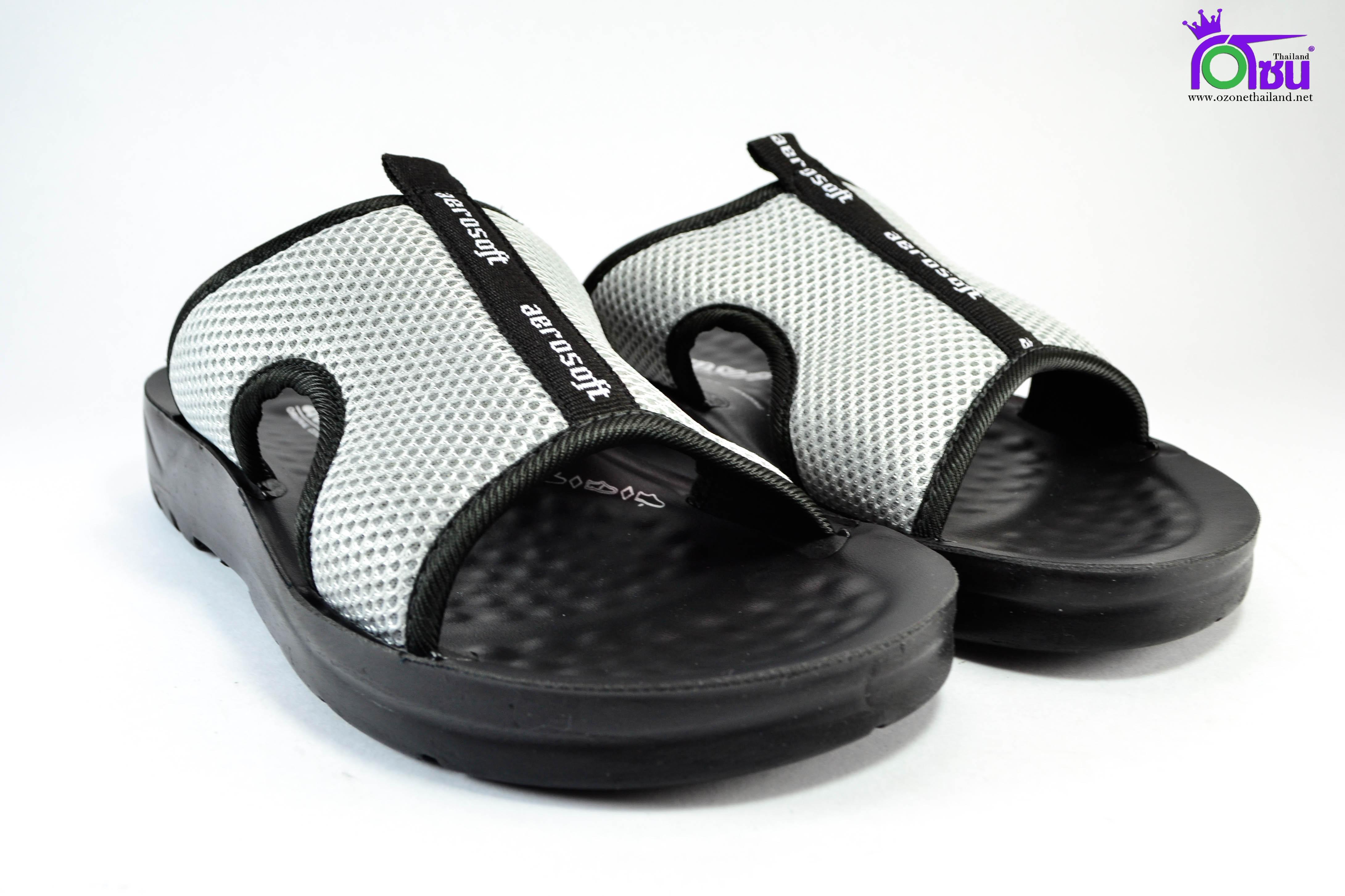 รองเท้าหนัง Aerosoft 5103 เทา