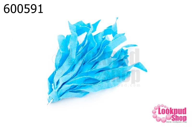 พู่ผ้าลาตินย้อม สีฟ้า (1ชิ้น)