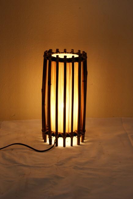 โคมไฟไม้ไผ่ Bamboo Table Lamp (BL-1006)