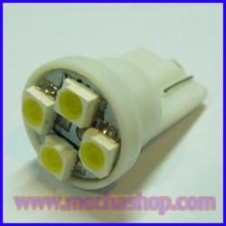 LFC004 ไฟหรี T10 4 SMD หัวเรียบ (จำนวน1คู่ สีขาว) ยี่ห้อ OEM รุ่น T10-4SMD