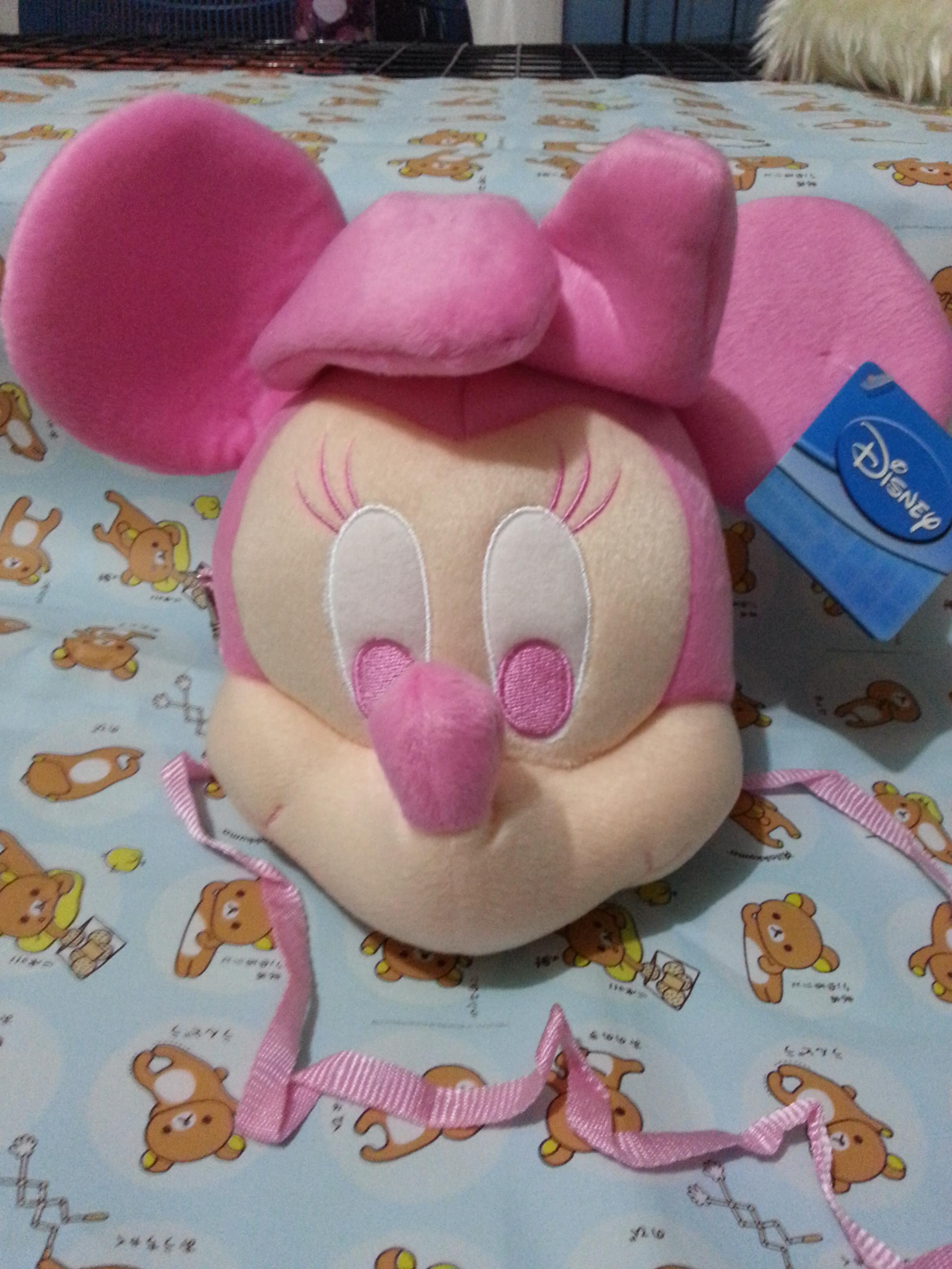 พร้อมส่ง :: กระเป๋าสะพายข้าง Minnie mouse สีชมพู