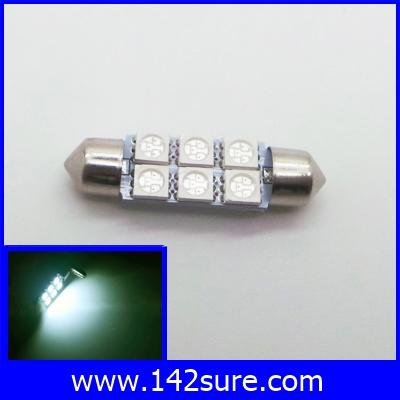 LFC046 ไฟใช้สำหรับตกแต่งรถยนต์ 6LED SMS5050 12VDC 39mm สีเขียว ใช้ได้ทั้งภายนอกและภายใน