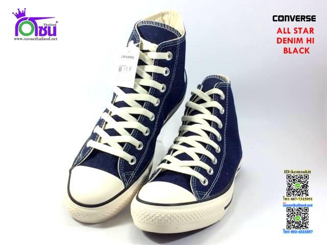 ผ้าใบ Converse All Star Denim Hi Blue สี น้ำเงิน เบอร์4-10