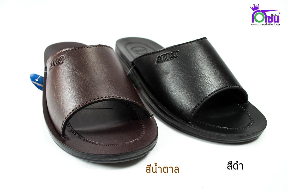 รองเท้าแตะหนัง ADDA 7F13-M1 สีดำ-น้ำตาล39-43