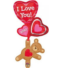 ลูกโป่งฟลอย์นำเข้า Love You Floating Bear / Item No. AG-25526 แบรนด์ Anagram ของแท้