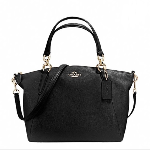 กระเป๋า COACH SMALL KELSEY SATCHEL IN LEATHER F36675 : IMITATION GOLD/BLACK