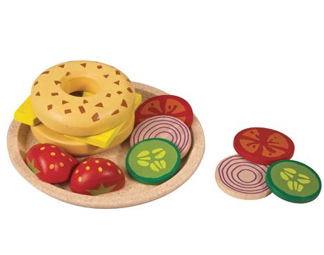 ของเล่นไม้เสริมพัฒนาการเด็ก Bagel with Cheese (ส่งฟรี)