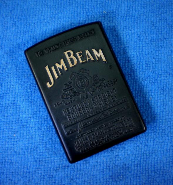 ไฟแช็คแก็ส Jim Beam จุดสไลด์ข้าง